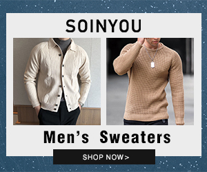 Soinyou cheap mens sweaters