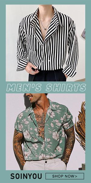 Soinyou mens casual long sleeve shirts