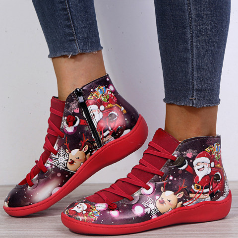 Cartoon Round Toe Boots