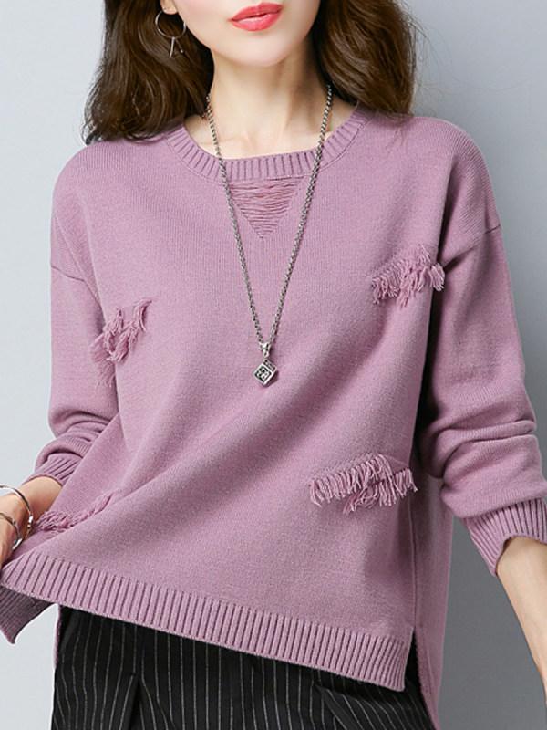 lilac lavender ripped sweater ninacloak