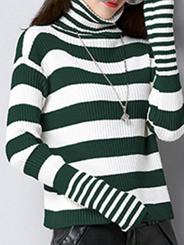 green and white stripped sweater ninacloak