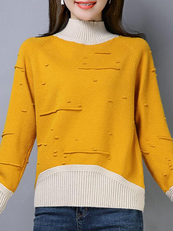 color blocking sweater ninacloak