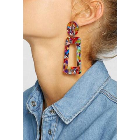 Acrylic Fashion Exaggerated Earrings Geometric Earrings