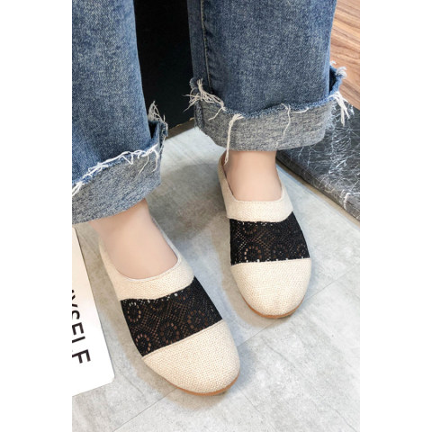 2020 summer new womens sandals comfortable breathable linen casual shoes