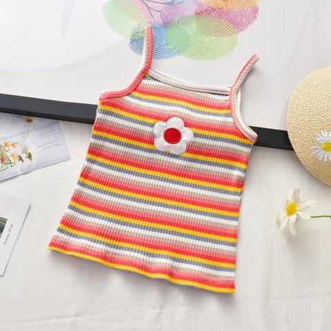 Cute colorful striped camisole top