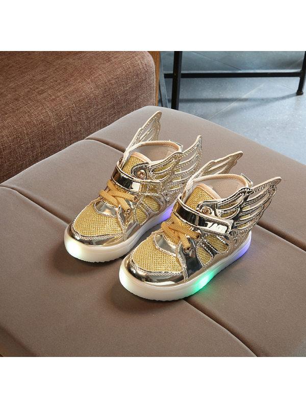 Girls Led Light Wings Sneakers