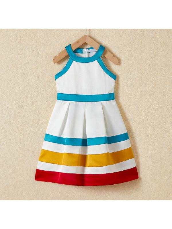 【18M-7Y】Sweet Colorful Sleeveless Dress