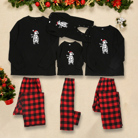 Christmas polar bear pattern family matching outfits