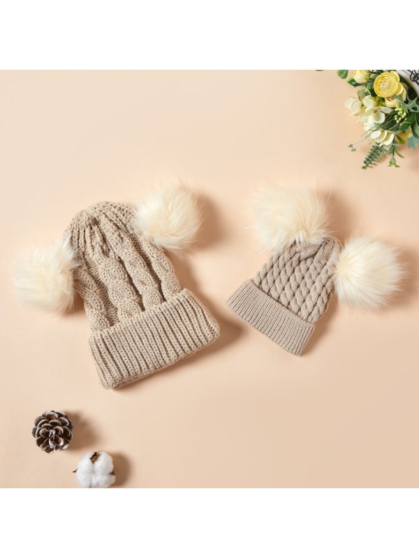 Winter Woolen Hats For Mom And Me