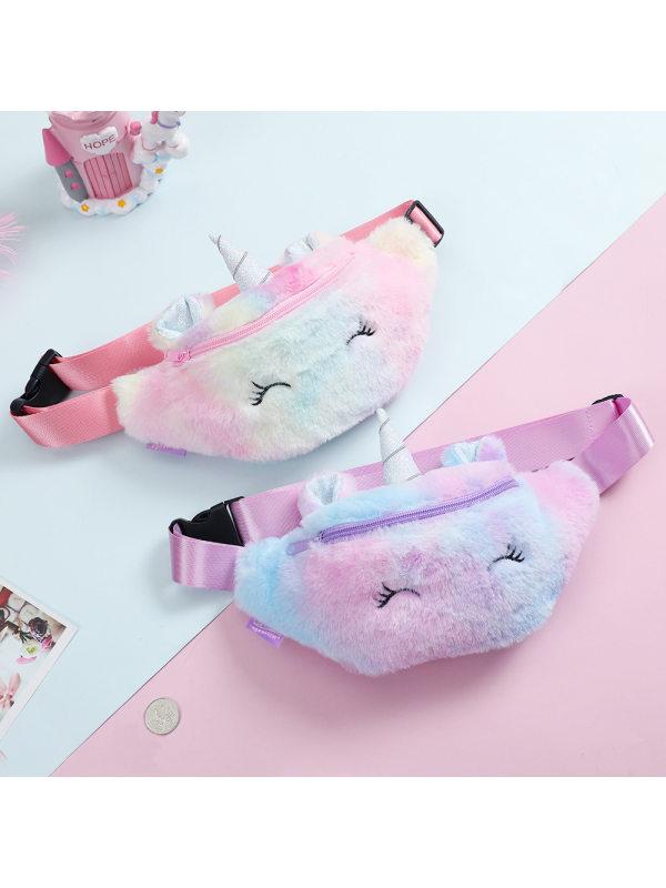 Cute Colorful Unicorn Plush Bag
