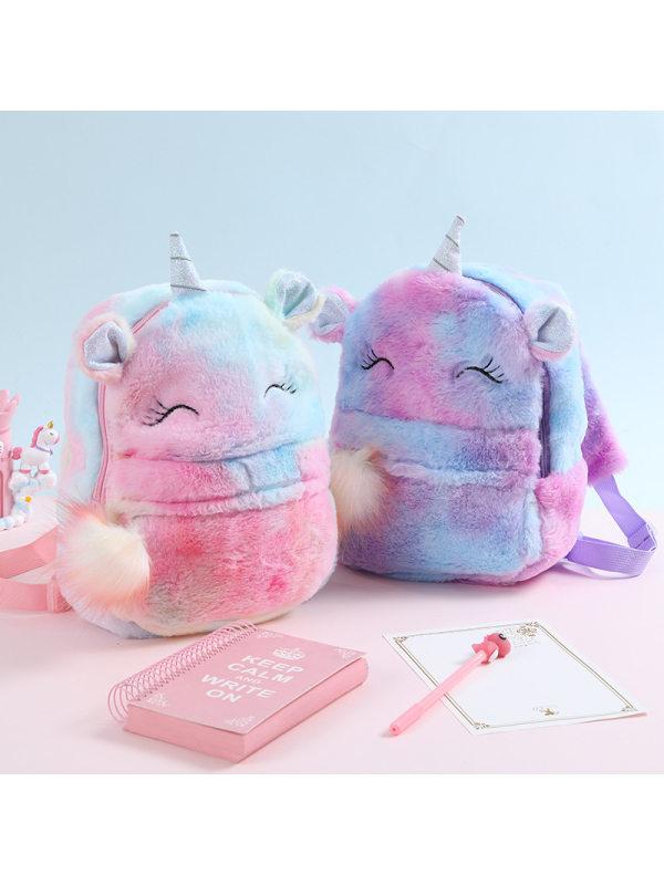 Cute Unicorn Plush School Bag