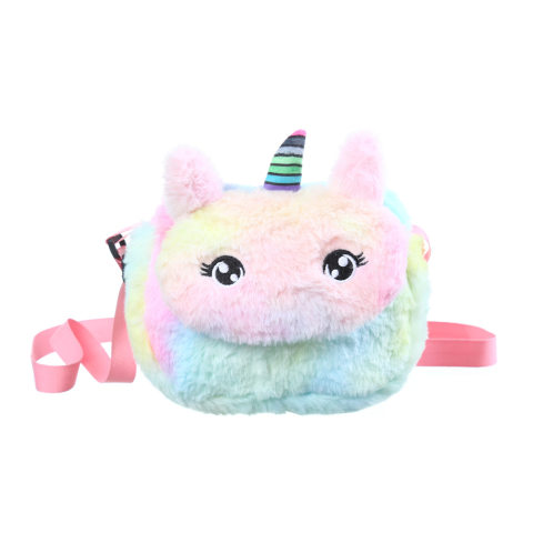 Cute Unicorn Plush Crossbody Bag