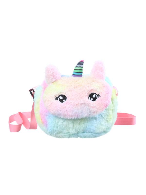 Cute Unicorn Plush Crossbody Bag