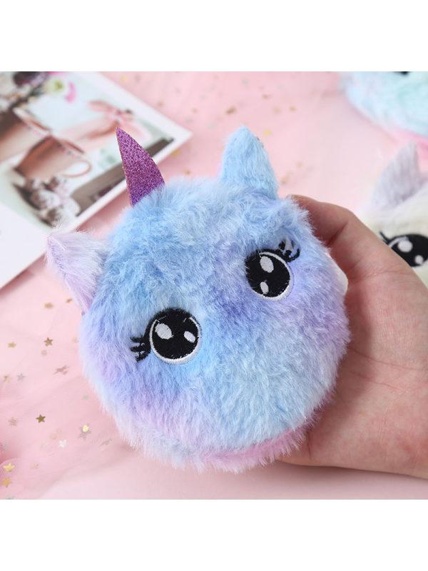 Cute Embroidered Unicorn Plush Mini Bag