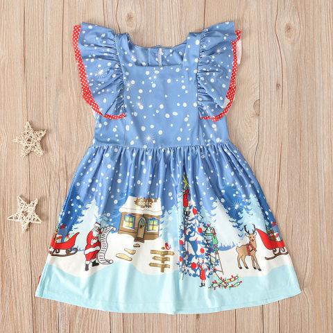Girl christmas sleeveless dress