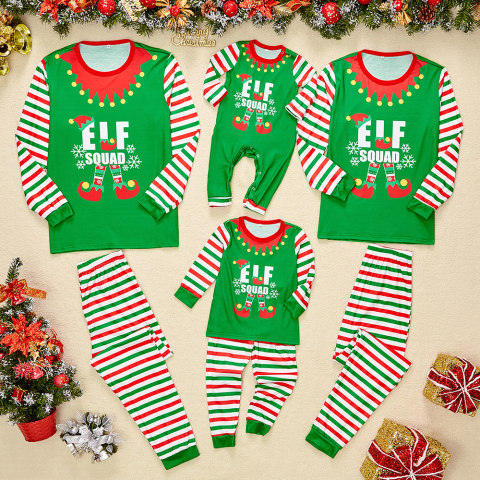 Christmas Green Elf Family Matching Outfits