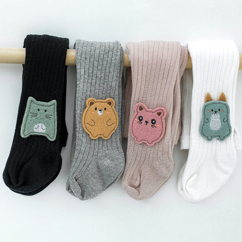 Childrens cotton knitted cartoon pantyhose