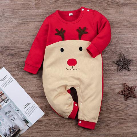 Baby Christmas Elk Style Jumpsuit