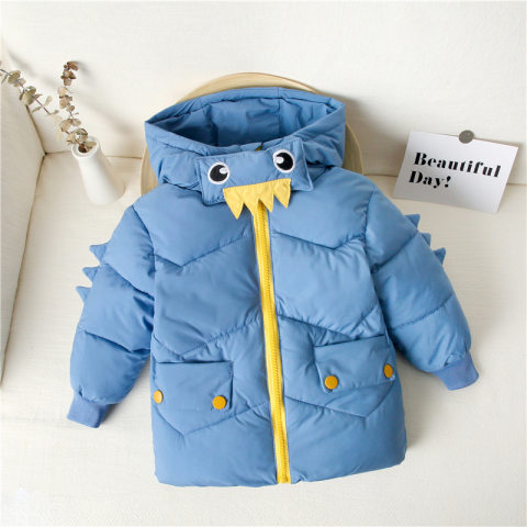 Childrens winter thin hooded cotton jacket