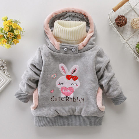 Cute Bunny Embroidered Hoodie