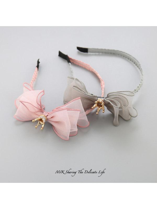 Girls Crown Bow Hair Band Hair Accessories