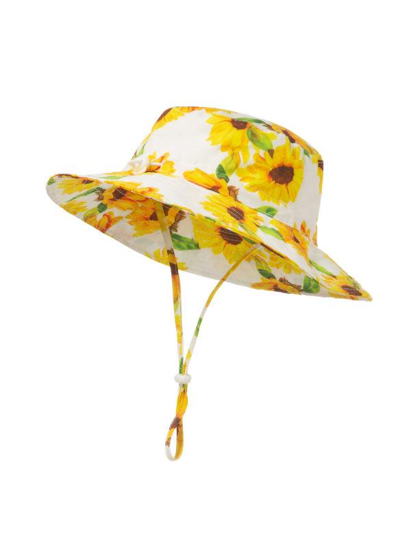 【0Y-5Y】Kids Fashion Flower Pattern Hat