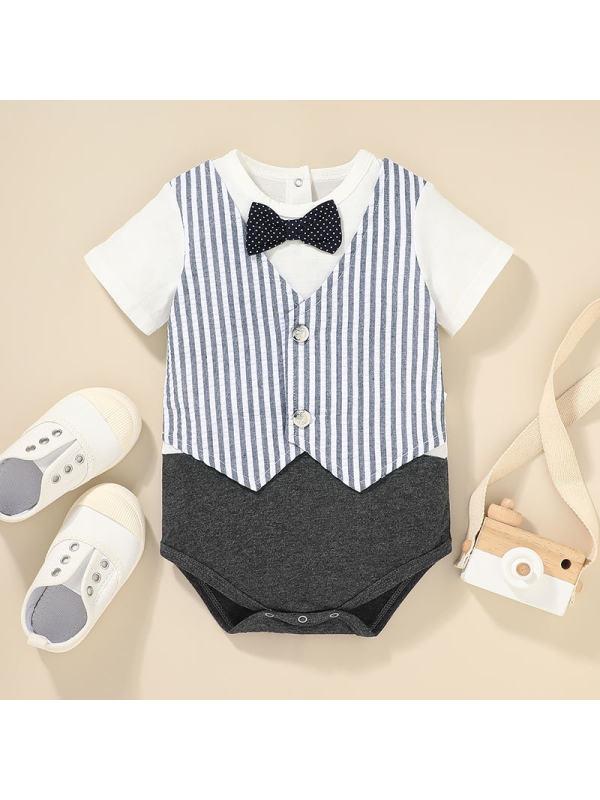 【0M-18M】Baby Summer Short-sleeved One-piece