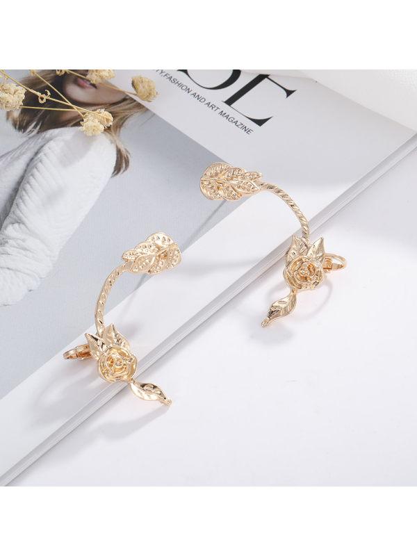 Rose flower earrings earrings temperament simple earrings