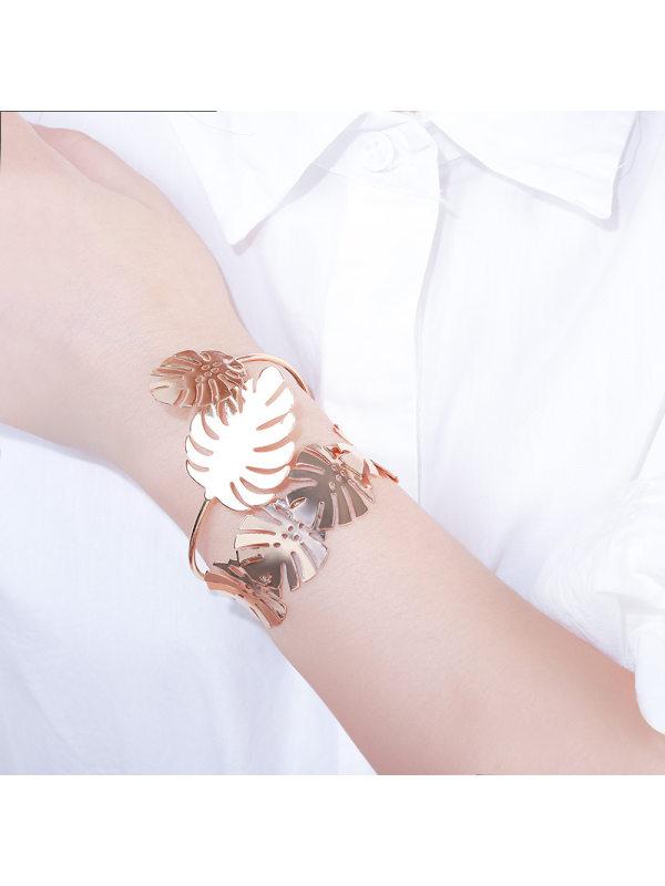 Personality Lady Petal Alloy Bangle Bracelet