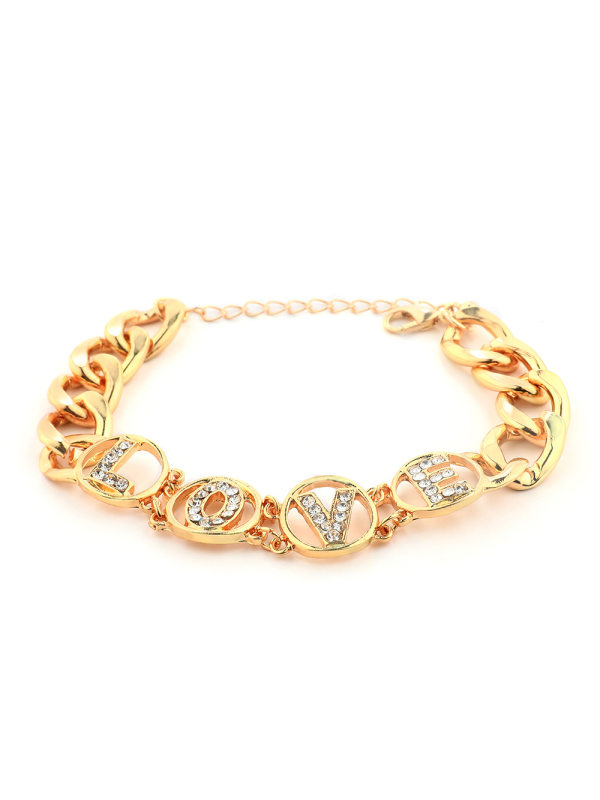 New European and American hot style hollow English LOVE brac