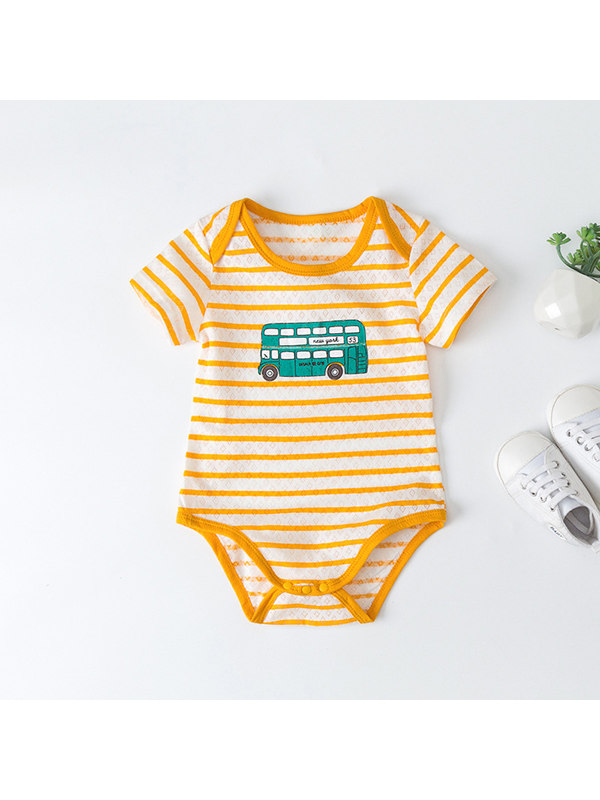 【3M-24M】Baby Short Sleeve Pullover Triangle Romper