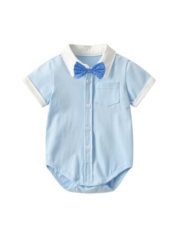 【3M-24M】Baby Short-sleeved Shirt Bodysuit