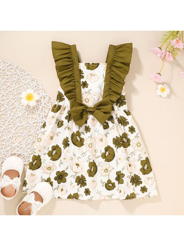 【18M-6Y】Girl Sweet Flower Pattern Dress