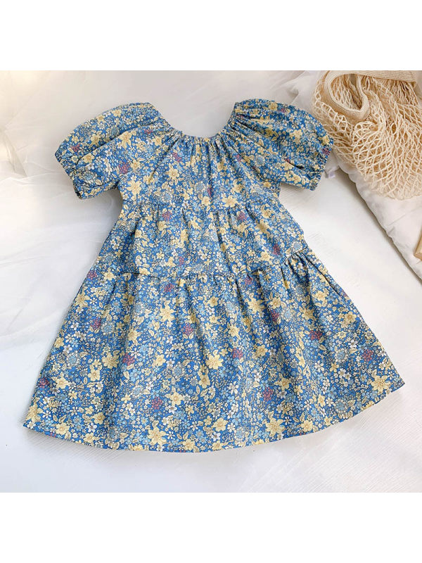 【18M-7Y】Sweet Flower Print Dress