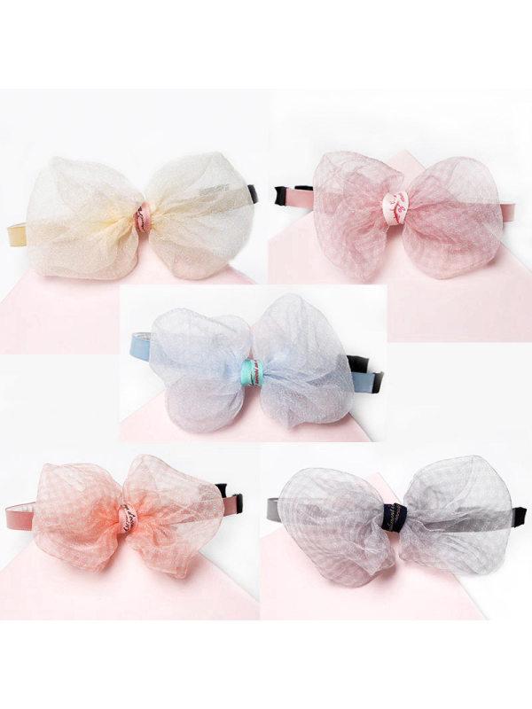 Girls Sweet Cute Mesh Bow Headband Hair Accessories