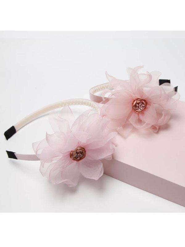 Girls Sweet Cute Mesh Flower Headband Hair Accessories