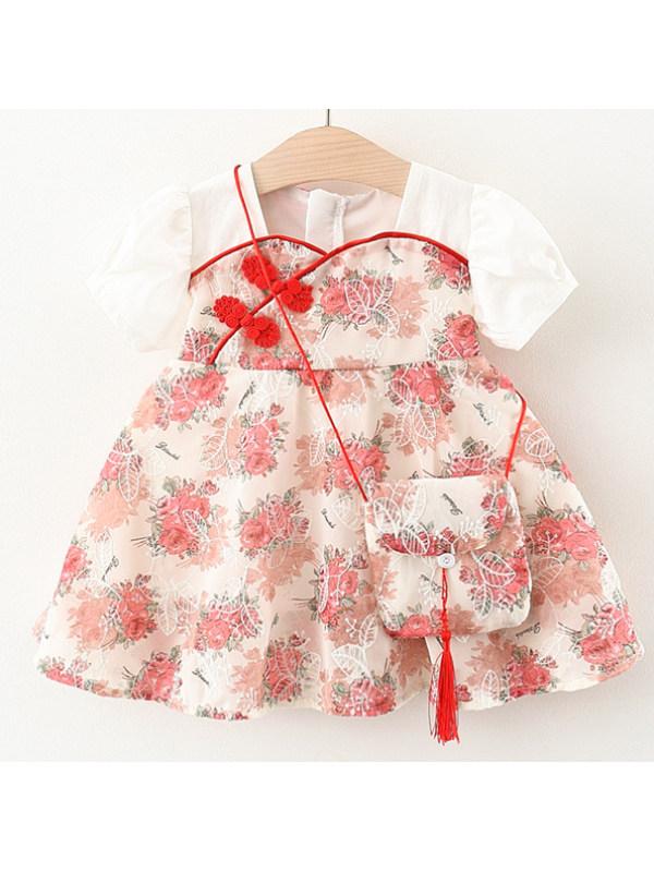 【12M-4Y】Sweet Flower Embroidery Dress