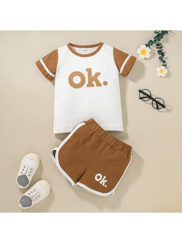 【12M-5Y】Children's Summer Short-sleeved Shorts Suit