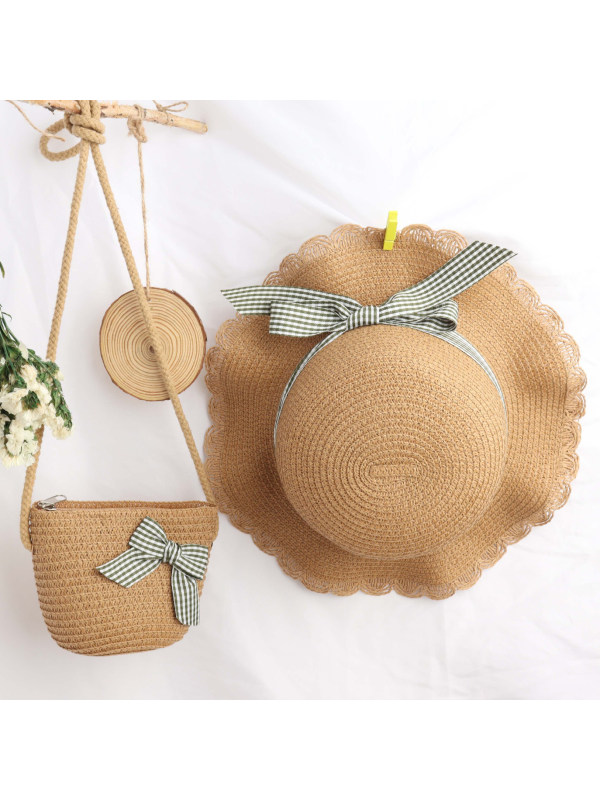 Fashion Sweet Bow Hat and Bag Set