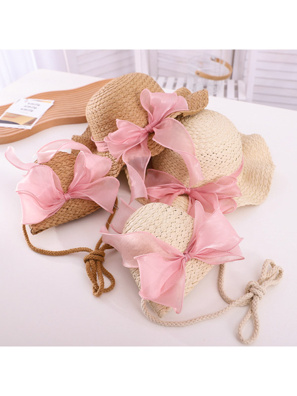 Sweet Pink Bow Hat and Bag Set