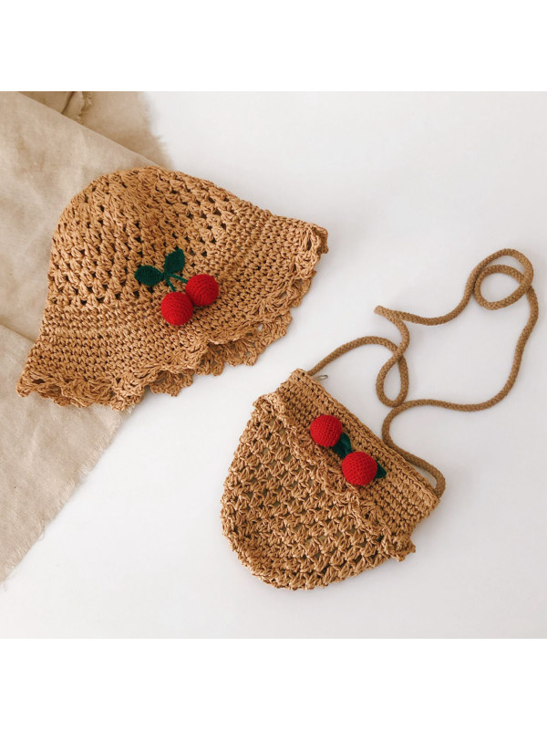 Sweet Cherry Hat and Bag Set