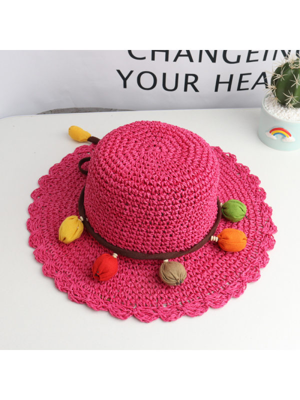 Sweet Colorful Ball Lace Hat