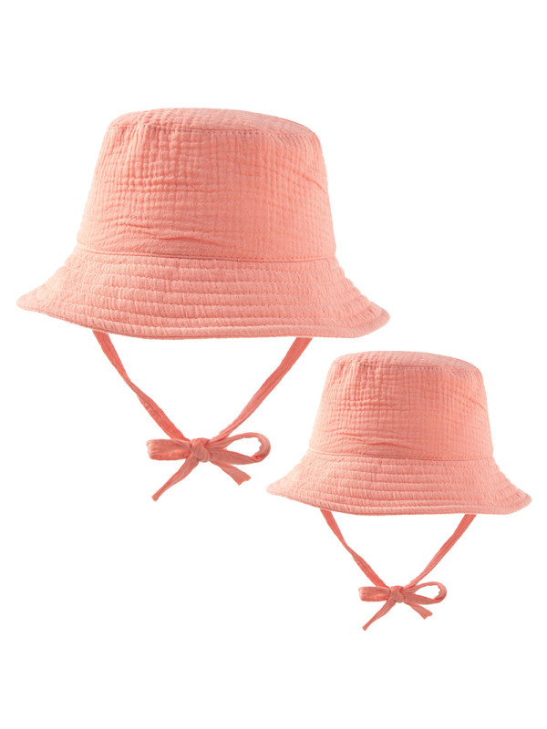 Casual Multicolor Mom Kid Matching Hat