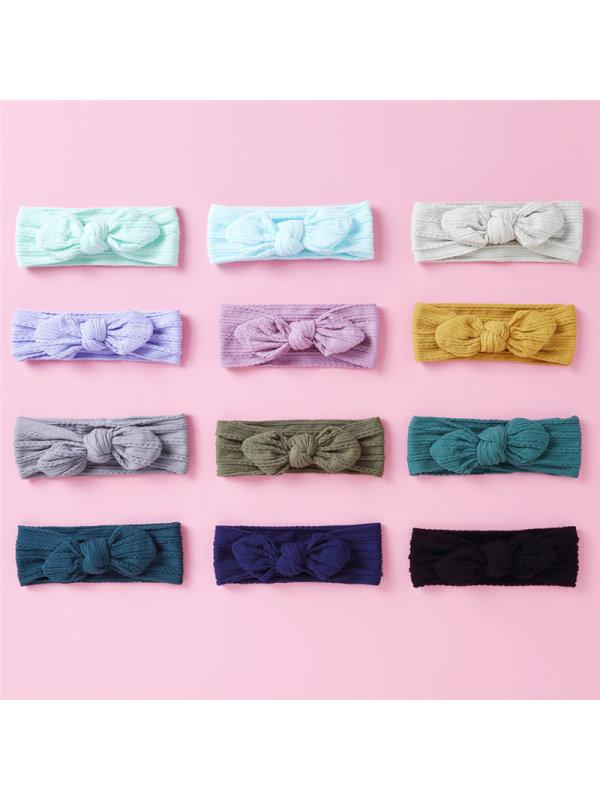 Baby Bow Wide Hair Band Headwear