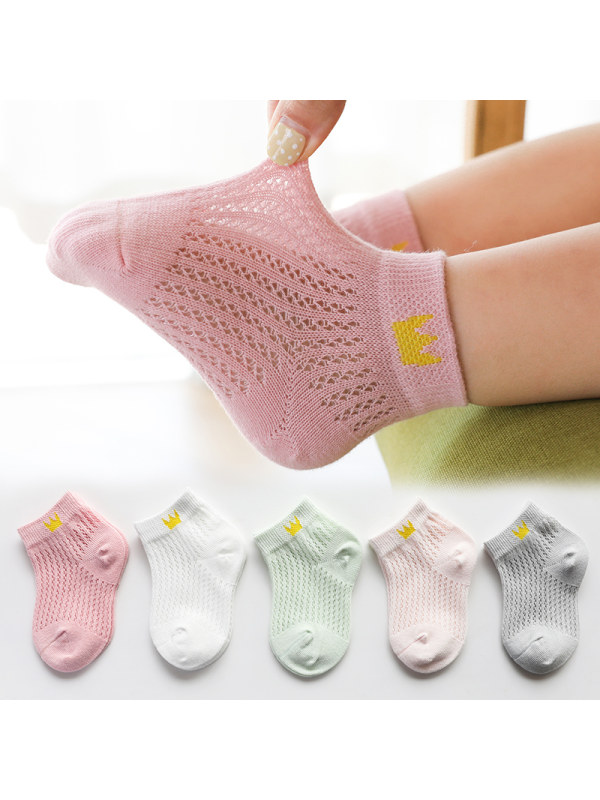 Summer Thin Mesh Children's Colourful Socks