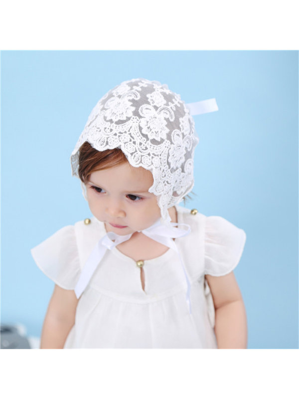 Breathable Baby Cap with Lace