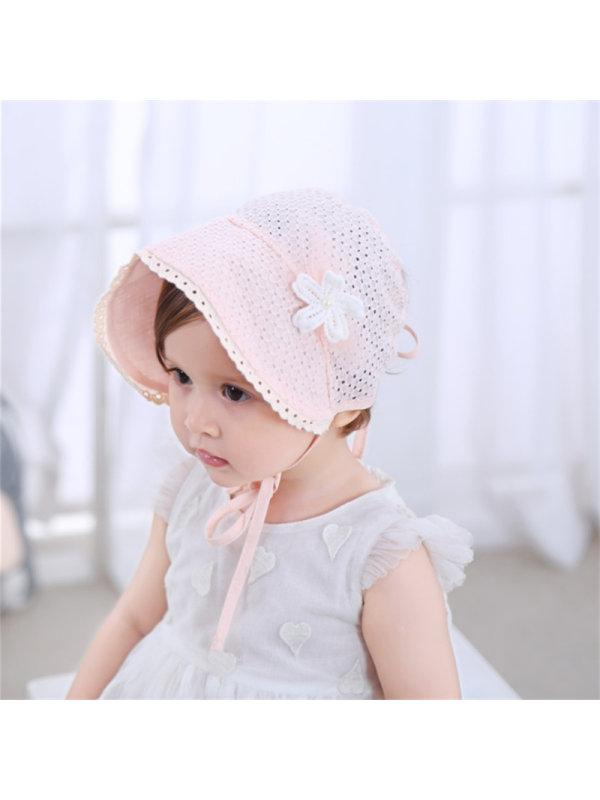 Breathable Sharp-Cornered Flower Sunscreen Baby Hat