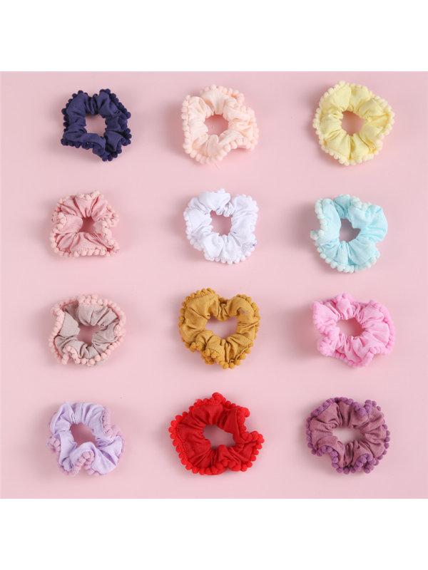 Handmade Fabric Hairy Ball Head Circle