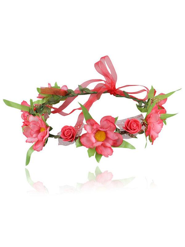 Girls Simulation Flower Ribbon Garland