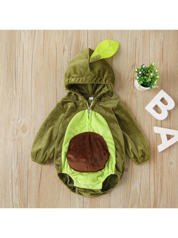 【6M-3Y】Baby Avocado One-piece Romper